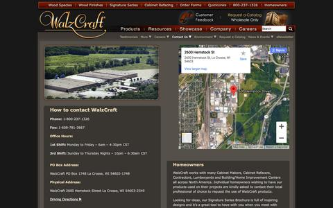 Screenshot of Contact Page walzcraft.com - Contact WalzCraft   WalzCraft - captured Sept. 20, 2018