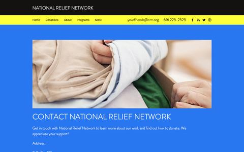 Screenshot of Contact Page nrn.org - Contact | National Relief Network - captured Nov. 29, 2016