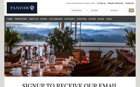 Screenshot of Signup Page pandaw.com - River Cruise Email Subscription | Pandaw.com - captured Dec. 14, 2018