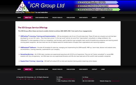 Screenshot of Services Page icrgroupltd.com - The ICR Groups Service Offerings - captured Oct. 4, 2014