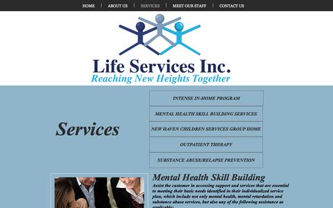 Screenshot of Services Page lifeservicesinc.co - lifeservices | SERVICES - captured May 18, 2017