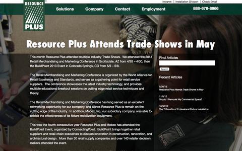 Screenshot of Blog resourcep.com - Blog Archives   Resource PlusResource Plus - captured Feb. 16, 2016