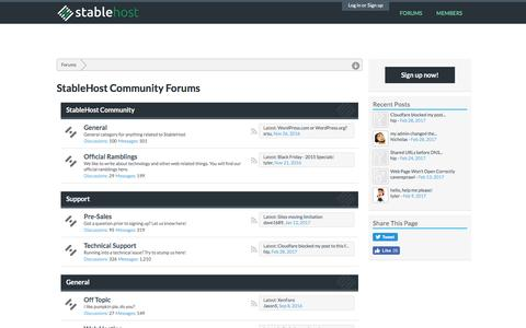 StableHost Community Forums