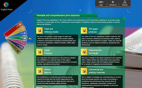 Screenshot of Products Page englishpress.com - Comprehensive Printing Solutions | Printing Press in Kenya - captured Nov. 8, 2016
