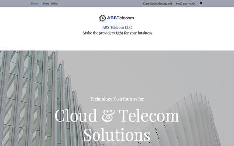 Screenshot of Home Page abstelecom.net - Home | ABS Telecom LLC - captured Oct. 2, 2018