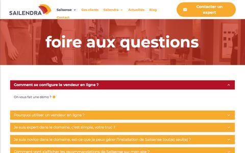 Screenshot of FAQ Page sailendra.fr - Foire Aux Questions - Sailendra - captured July 27, 2018