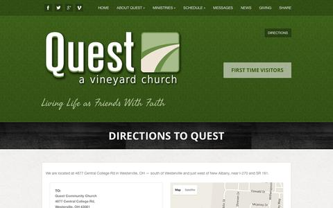 Screenshot of Maps & Directions Page gotoquest.org - Directions to Quest - Quest - captured March 2, 2016
