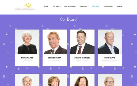 Screenshot of Team Page sheldonkennedycac.ca - Our Team – Sheldon Kennedy | Child Advocacy Centre - captured Oct. 20, 2017