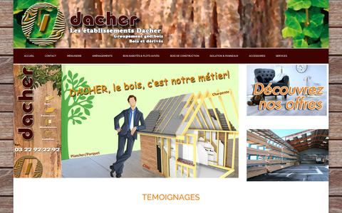 Screenshot of Home Page dacher.fr - ACCUEIL - captured Sept. 18, 2015
