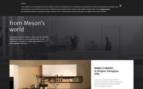 Screenshot of Press Page mesons.it - Mesons  – news - captured Sept. 20, 2018