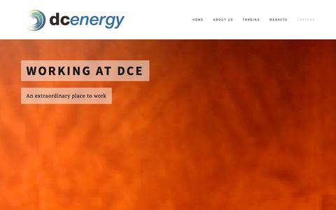 Screenshot of Jobs Page dc-energy.com - Careers — DC Energy - captured Oct. 29, 2014
