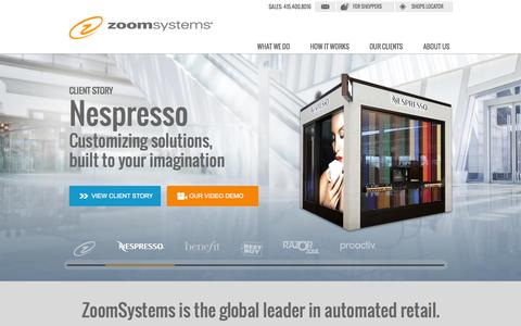 Screenshot of Home Page zoomsystems.com - ZoomSystems - captured Jan. 26, 2015