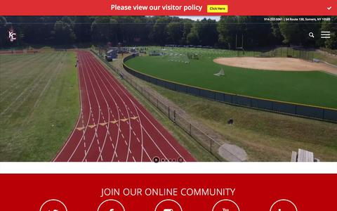 Screenshot of Home Page kennedycatholic.org - Westchester, NY Private Catholic High School, Kennedy Catholic: Home of the Gaels - captured Oct. 16, 2017