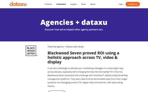 Screenshot of Case Studies Page dataxu.com - dataxu + agency case studies | Discover agency customer success stories - captured Nov. 18, 2019