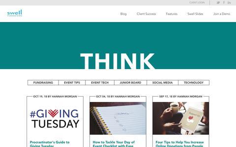 Screenshot of Blog swellfundraising.com - Swell Fundraising - captured Nov. 20, 2018