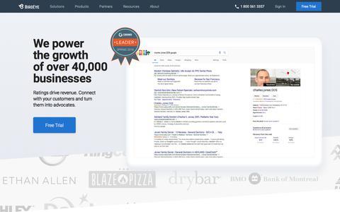 Screenshot of Home Page birdeye.com - Online Reputation Management   Review Generation   Customer Experience   BirdEye - captured June 3, 2018