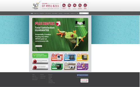 Screenshot of Home Page nqbe.com.au - NQBE - Integrated IT   Photocopiers, MFD, Computers, Telephone - captured Oct. 7, 2014