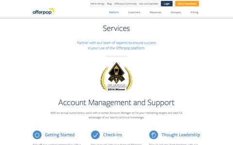 Screenshot of Services Page offerpop.com - Offerpop | Services - captured March 30, 2016