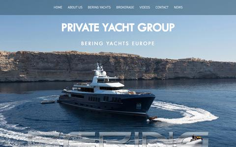 Screenshot of Home Page privateyachtgroup.eu - Private Yacht Group - Bering Yachts Europe - captured July 22, 2018