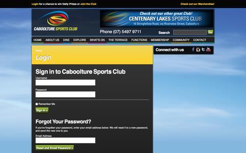 Screenshot of Login Page cabsports.com.au - Login - captured Sept. 26, 2018
