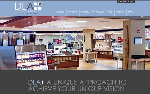 Screenshot of Home Page dlaplus.com - DLA+ Architecture & Interior Design - captured Nov. 3, 2015