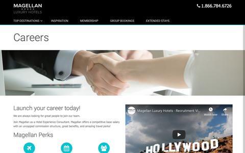 Screenshot of Jobs Page magellanluxuryhotels.com - Careers - Magellan Luxury Hotels - captured Oct. 21, 2018