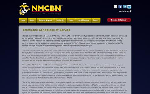 Screenshot of Terms Page nmcbn.com - Terms And Conditions | NMCBN - captured Nov. 4, 2014