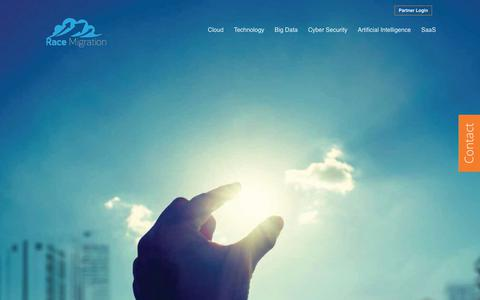 Screenshot of Home Page racemi.com - Cloud Solutions - captured June 27, 2019
