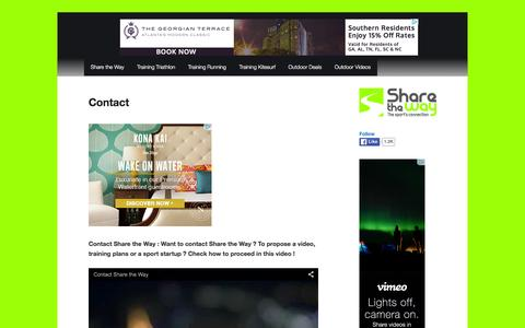 Screenshot of Contact Page share-the-way.com - Contact - - captured Feb. 28, 2016