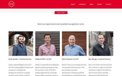 Screenshot of Team Page work-club.com - Work Club |   Our Team - captured Sept. 23, 2014