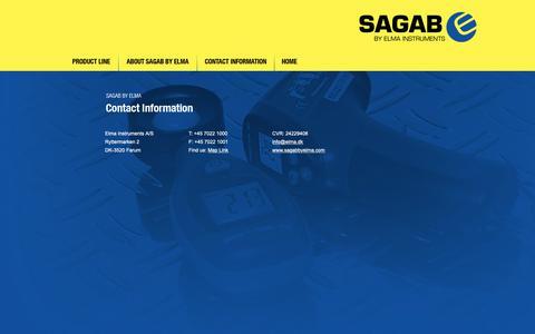 Screenshot of Contact Page sagabbyelma.com - Sagab by Elma - captured Oct. 1, 2018