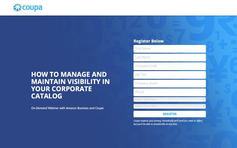 On-Demand Webinar with Amazon Business and Coupa