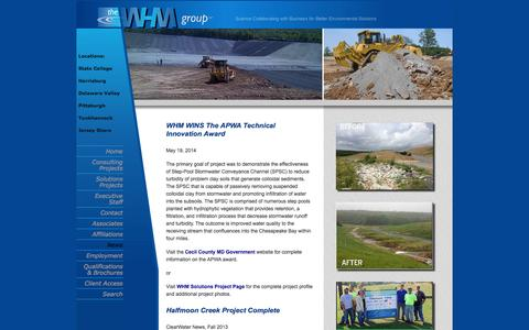 Screenshot of Press Page whmgroup.com - The WHM Group: WHM Consulting and WHM Solutions - Main - News - captured Oct. 7, 2014