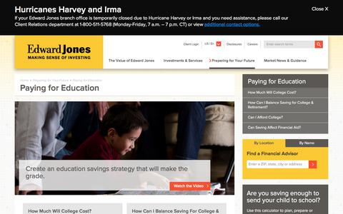 Paying for Education | Edward Jones