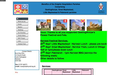 Screenshot of Home Page knights-hospitallers.org.uk - Home - captured Oct. 9, 2015