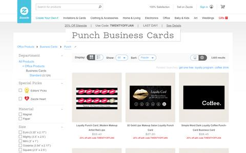 Punch Business Cards & Templates | Zazzle