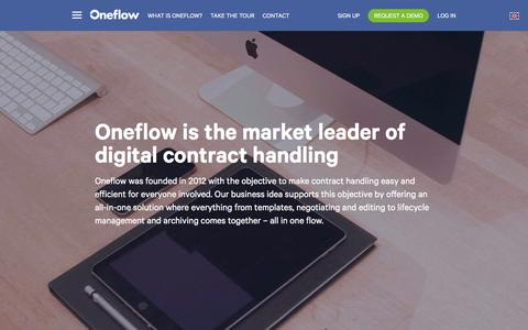 Screenshot of About Page oneflow.com - What is Oneflow? – Oneflow - captured Feb. 10, 2016