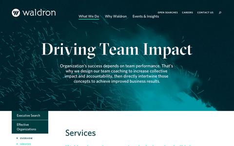 Screenshot of Services Page waldronhr.com - Services  — Waldron - captured Oct. 20, 2018