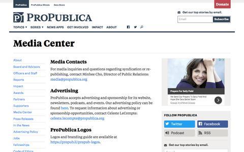 Media Center — ProPublica
