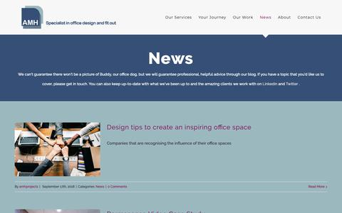 Screenshot of Press Page amh-projects.co.uk - Advice and Latest News about Commercial Office Fit Outs - captured Oct. 2, 2018