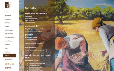 Screenshot of Contact Page hooihuis.nl - Contact - captured Feb. 15, 2016
