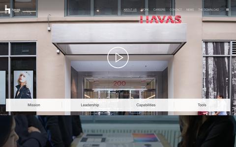 Screenshot of About Page havas.com - About Us | Havas - captured Sept. 27, 2018