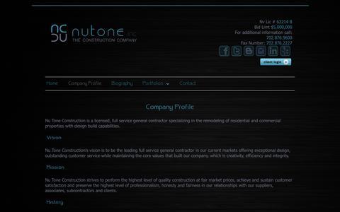 Screenshot of Press Page nutoneconstruction.com - Nutone Media Company Profile - captured Jan. 11, 2016
