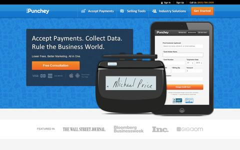 Screenshot of FAQ Page punchey.com - Punchey - Credit Card Processing for Mobile and Retail Businesses - captured Sept. 11, 2014