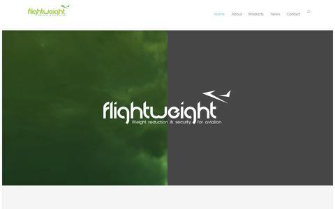 Screenshot of Home Page flightweight.net - Flightweight | Weight Reduction & Security for Aviation. - captured Sept. 30, 2014