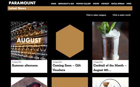 Screenshot of Press Page paramount.uk.net - News | PARAMOUNT - captured Sept. 19, 2014