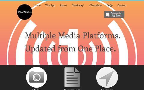 Screenshot of Home Page 1stopstatus.com - 1StopStatus - captured Oct. 9, 2014