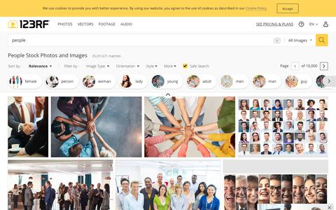 Screenshot of Team Page 123rf.com - People Stock Photos And Images - 123RF - captured Sept. 12, 2019
