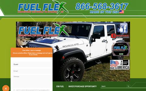 Screenshot of Testimonials Page fuelflexinternational.com - E85 conversion kits - e85 kits - ALCOHOL FUEL CONVERSION KITS - FLEX FUEL CONVERSIONS - Fuel Flex International, Full Flex International - Full Flex Gold and ECO Flex Platinum USA Distributor flex fuel - Pulstar pulse Spark Plugs - FLEX COMBUSTIBLE - captured Sept. 3, 2018