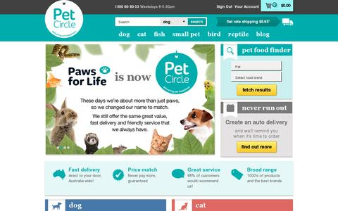 Screenshot of Home Page petcircle.com.au - Pet food online | Pet Circle - captured July 11, 2014